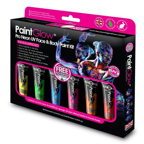 PRO Neon UV Face & Body Paint